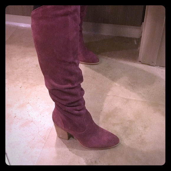 e2c042cfc4c Suede Burgundy Boots. M 5c5ed1c9194dad90b9401f60. Other Shoes you may like. Nine  West Women s ...